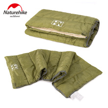 Naturehike Сверхлегкий компактный летний хлопковый спальный мешок водонепроницаемый квадратный спальный мешок для кемпинга на открытом воздухе