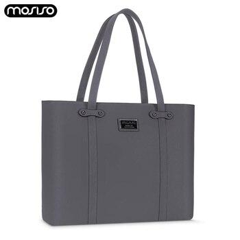 MOSISO Fashion New PU Laptop Bag For Women 13 14 15 Inch Waterproof Notebook Bags Case Briefcase Handbags Computer Shoulder Bag