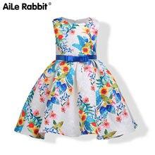 a3fbaf4af8118 Ebay pour L'europe et les États-unis filles robe jacquard impression  princesse robe des filles de cuhk enfants