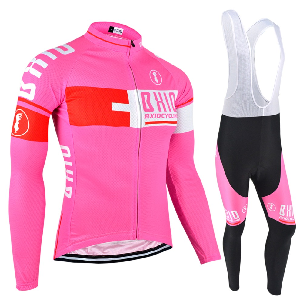 BXIO Mujer Ropa Ciclismo Invierno Pro Team Bike Clothes Multi Colors Bicycle Clothing Winter Thermal Fleece Cycling Jersey 025 men thermal long sleeve cycling sets cycling jackets outdoor warm sport bicycle bike jersey clothes ropa ciclismo 4 size