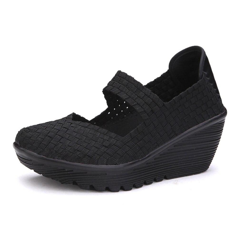 Women Woven Shoes  Summer Breathable Handmade Shoes Fashion Comfortable Women Woven Casual Shoes Sandals