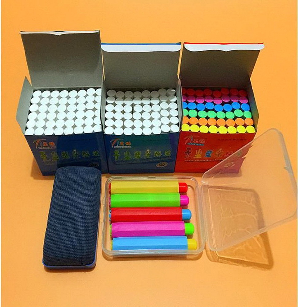 non-toxic environmental health bright chalk teacher dedicated dustless chalk pen school supplies chalkboard sticker blackboard 10pcs pack korea colorful chalk dust free chalk non toxic chalk