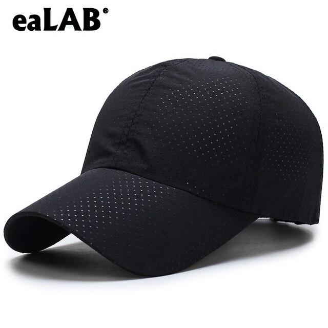 5432539346ccd eaLAB Summer Baseball Cap Men Visor Dad Hat Cap For Women Solid Color  Ventilated Perforated Mesh cap Male Bone Baseball Cap Hats