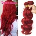 8A grade Brazilian Red Hair Bundles Brazilian Virgin Hair Body Wave Red Hair Extensions 3 bundles remy human weave bundles