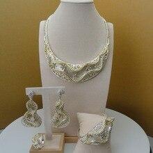 2019 Yuminglai Dubai Kostüm Schmuck Phantasie Afrikanische Halskette Sets für Frauen Braut Schmuck Sets FHK5684