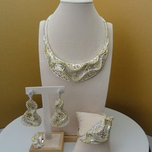 2019 Yuminglai Dubai kostium biżuteria fantazyjne afryki naszyjnik zestawy dla kobiet zestawy biżuterii dla nowożeńców FHK5684