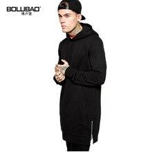 Bolubao Neue Männer Hoodie Sweatshirt Mode Hood Street Hip Hop Fleece Gefüttert Europa Größe Baumwolle Männlichen Schwarzen Hoody