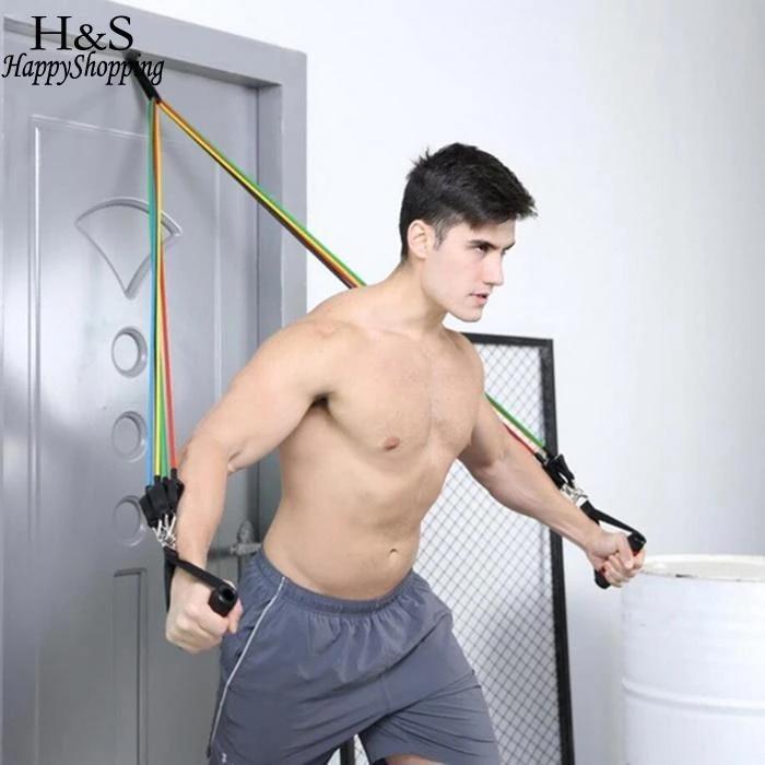Bands Resistance Hanging Fitness Workout Suspension Belt Gym Pull Rope Sports UK