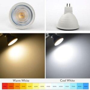 Image 2 - Luz de led regulável para ponto gu10, 7w, 220v, mr16 gu5.3, lâmpada led com 30 feixe de ângulo lâmpada para lâmpada de mesa