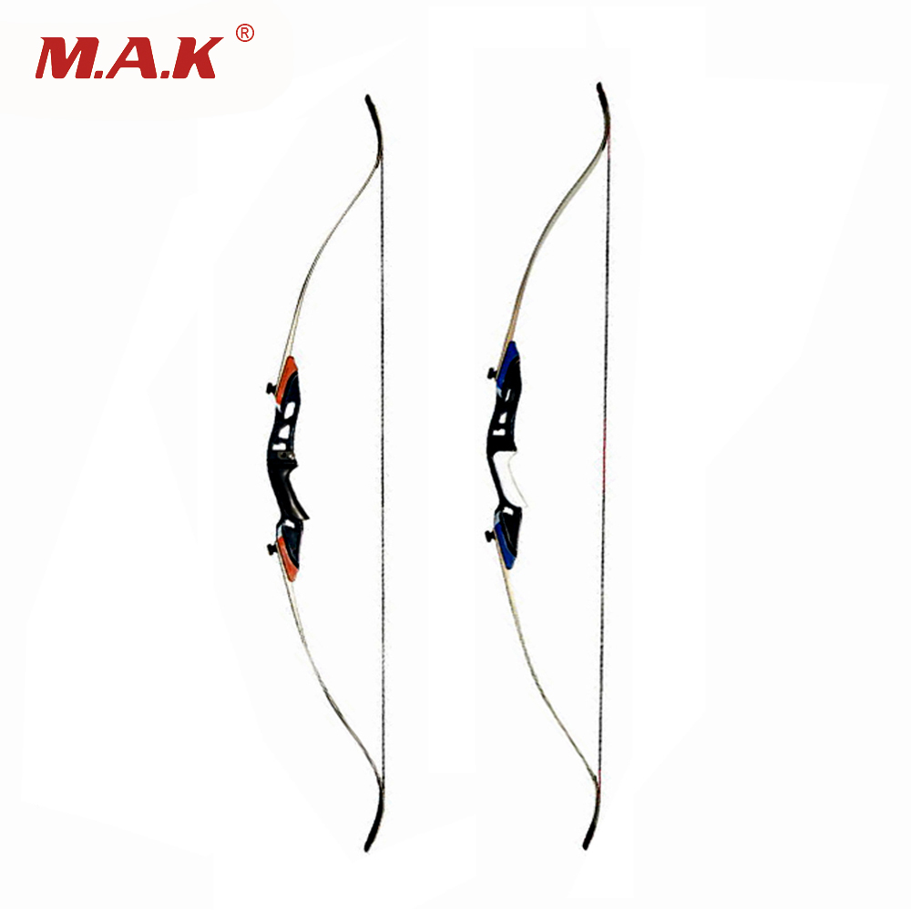 2 Color 58 Inch 25-50Lbs Recurve Bow with High Strength Alloy Riser material for Archery Shooting Hunting 3 color 30 50lbs recurve bow 56 american hunting bow archery with 17 inches metal riser tranditional long bow hunting