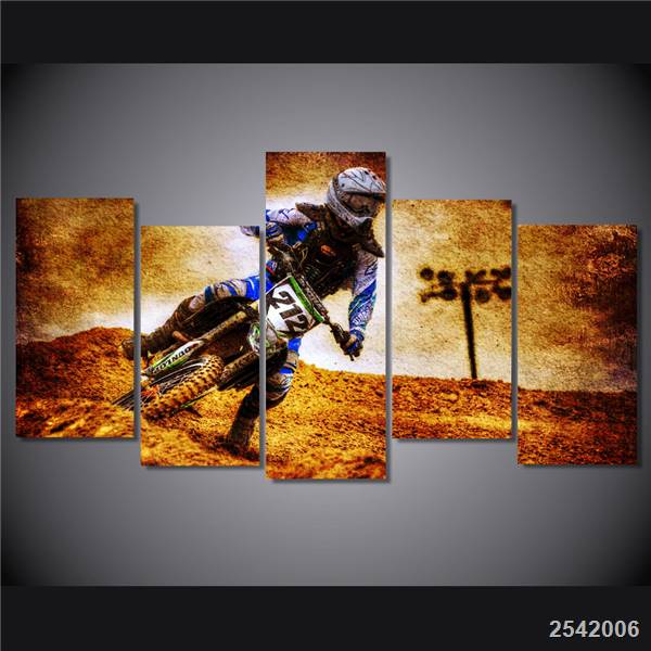 Hd Printed Motocross Picture Painting On Canvas Room Decoration Print Poster Picture Canvas Free Shipping/Ny-4115 Christmas gift