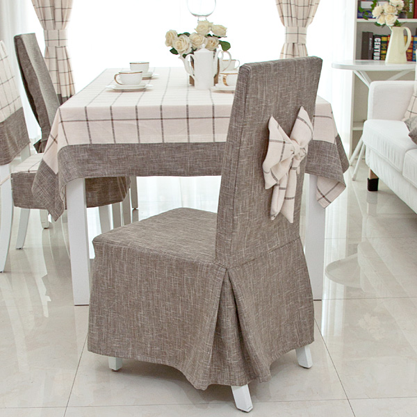 linen chair covers dining room rod iron chairs customize cotton one piece cover thickening fluid brief