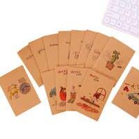 1 pc/lot Kawaii papier Kraft rétro 64K Mini journal intime blanc intérieur dessin animé motif Cactus hibou ours cahier étudiant apprentissage livre cadeau