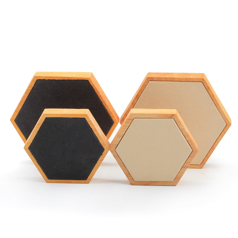 Simple 6-sided Solid Wood Diamond Jewelry Display Props, Creative Jewelry Display Board. Jewelry Photography Props