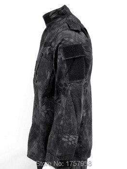 US Camouflage Uniform Kryptek Typhon Camo ACU style Uniform Set Military Shirt and Pants Mandrake and Highlander Camo