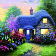 Full round diamond dill Crafts DIY Fantasy cottage pictures 5D  embroidery mosaic pattern painting cross stitch