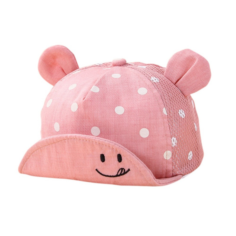 где купить Kids Newborn Toddler Baby Summer Breathable Caps Girl Boy Snapback Cap Dots Little Ear Hats New по лучшей цене