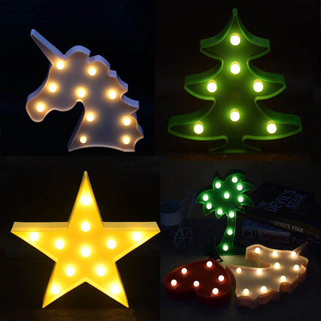 3D Lamp LED Night Light Bird Pineapple Cloud Night Light Table Lamp Marquee  Home Bedroom Holiday