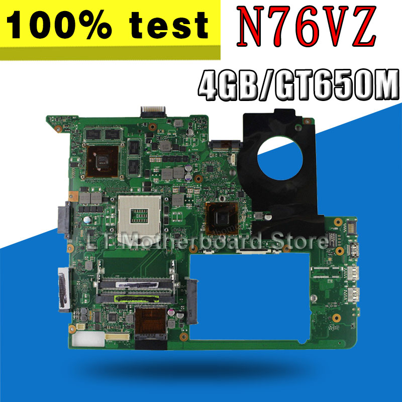 with 4GB Video card GT650M N76VZ Motherboard For ASUS N76VZ N76V N76VM N76VJ N76VB Laptop Mainboard N76VZ Motherboard test OK kefu for asus n76vj n76vz laptop motherboard n76v mainboard rev 2 2 gt635 non integrated 100