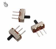 цена на 50 pcs Interruptor on-off mini 1 Way 2 Band Slide Switch PCB Mount SS12d00G4 # DSC0039