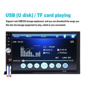 Image 5 - 7012B 7 pouces Bluetooth V2.0 voiture Audio stéréo écran tactile MP5 lecteur Support MMC