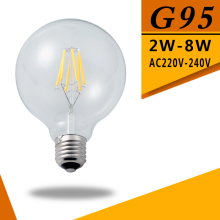 Led Filament Bulb G95 Big light bulb 2W 4W 6W 8W filament led bulb E27 clear glass indoor lighting lamp AC220V Led Edison Bulb цена в Москве и Питере