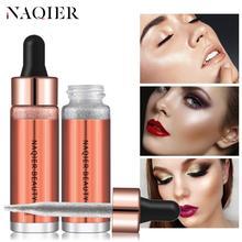 NAQIER Makeup Liquid Highlighter iluminador Bronzer Face Contouring brighten cream body luminizer Shimmer Concealer Glow Primer