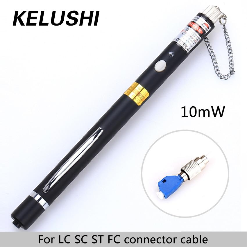 bilder für KELUSHI 10 mW Lwl Visual Fault Locator Rot Laser Lichtquelle Kabel Tester 2,5mm Allgemeine schnittstelle LC/FC/SC/ST Adapter