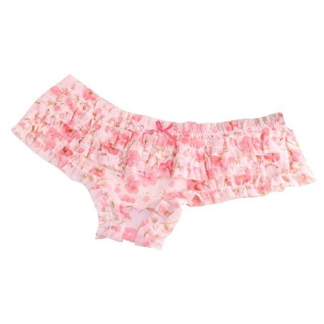 59da93d5e9b Lovely Girl Hot Sexy Polyester Underwear Women Panties Female Lace Ruffles  Lady Butt Lifter Briefs