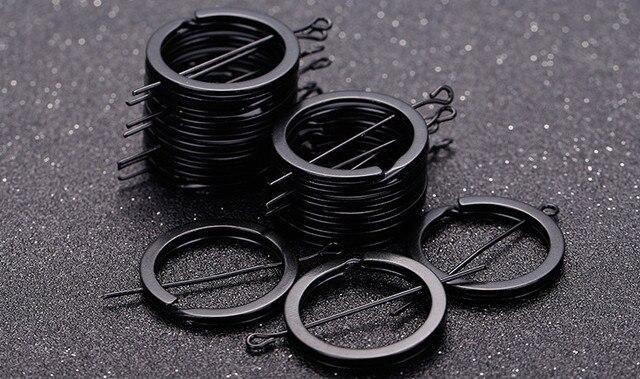 Diy 1,8*25mm llavero negro anillo Split nunca se decolora llaveros para el bolso llavero Diy joyería que hace Sleutelhanger