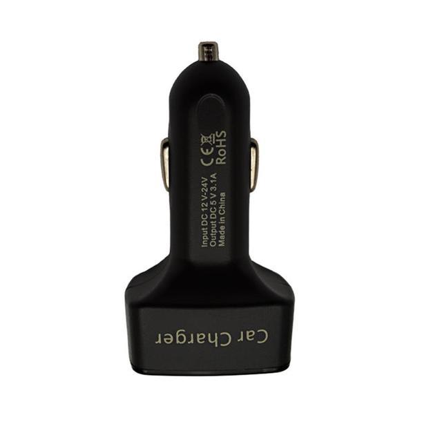 EC2 cargador Dual del coche del USB 4 en 1 3.1A 12 V-24 V 2 puerto USB adaptador con más protección de corriente-Amplificador de voltaje de la batería de visualización