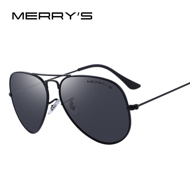 MERRY'S DISEGNO Uomini/Donne Classici Pilota Occhiali Da Sole Polarizzati 58mm Protezione UV400 S'8025