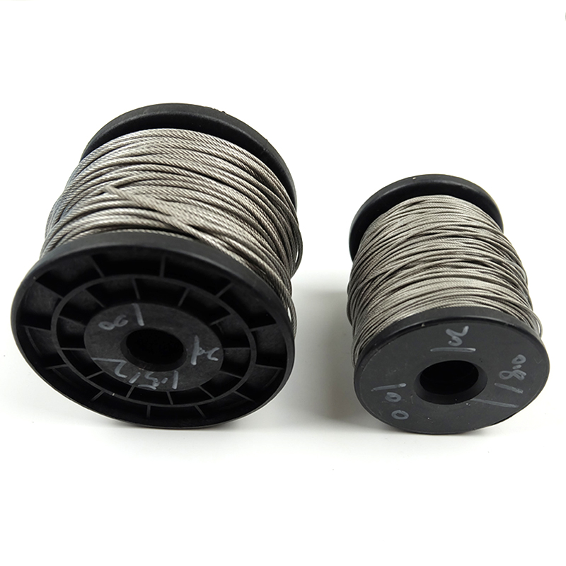 5 метров стальной ПВХ с покрытием гибкий трос мягкий кабель прозрачная нержавеющая сталь бельевая линия диаметр 0,8 мм 1 мм 1,5 мм 2 мм 3 мм