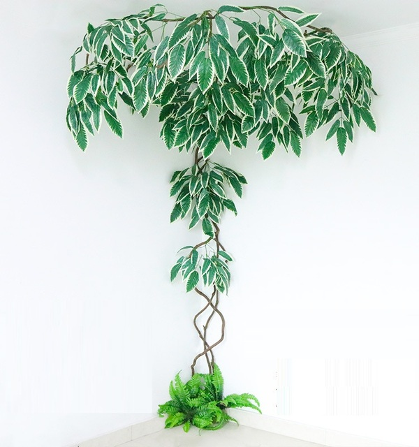 1.8 m x 3 m artificial plant wall plant artificial leaves for garden