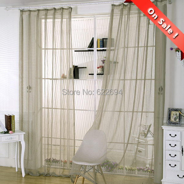 1m28m Cheap Sheer Curtains Voile Tulle Clearance In From Home Garden On Aliexpress