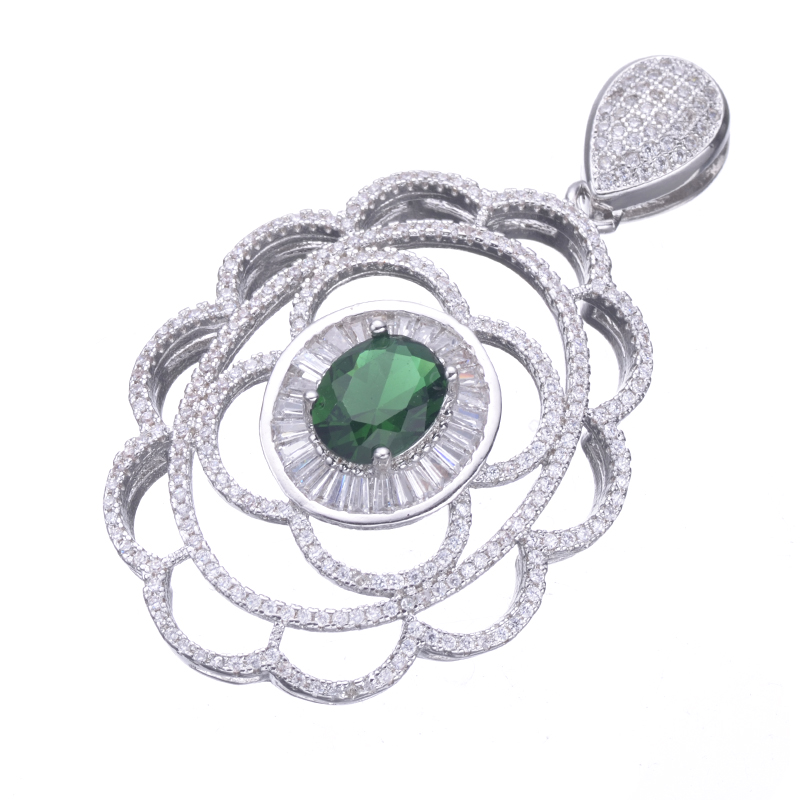 7aa2a0bfaa18 Nuevo micro Pave joyería bijoux ZIRCON flor Colgantes para pulseras Collares  DIY artesanía moda hueco Amuletos berloques