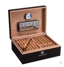 Роскошные кедрового дерева структура черный ящик из-под сигары cohiba древесины коробки для хранения сигар Cohiba коробки Organizador