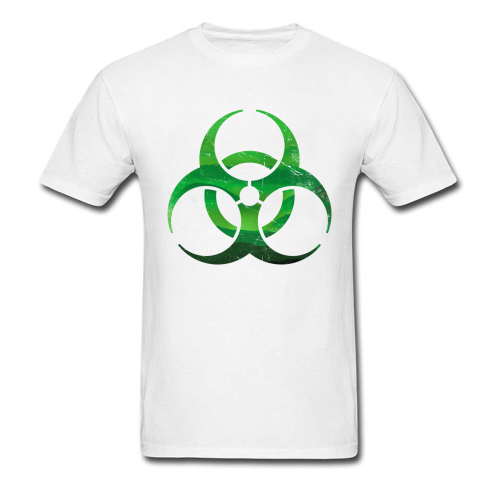 Biohazard Signs T Shirt Men Endless Green Rain Forest Mountains Contagious T-Shirt  Environmental Protection Earth Day Tshirt