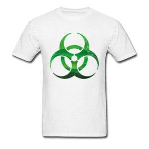 Biohazard Signs T Shirt Men Endless Green Rain Forest Mountains Contagious T-Shirt Environmental Protection Earth Day Tshirt(China)