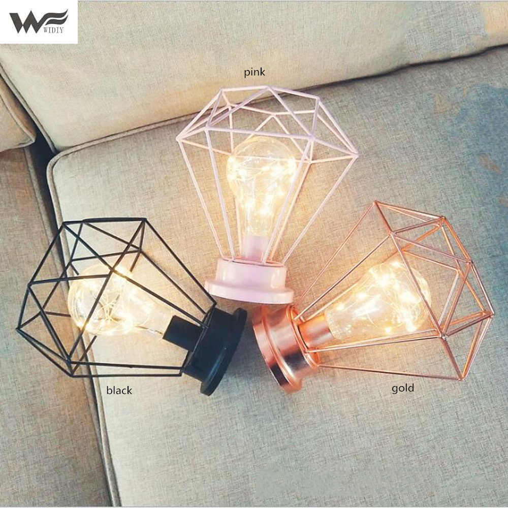 Lamp night light photo table lamp Ins wind girl heart room layout network red light wrought iron star lamp bedroom decoration