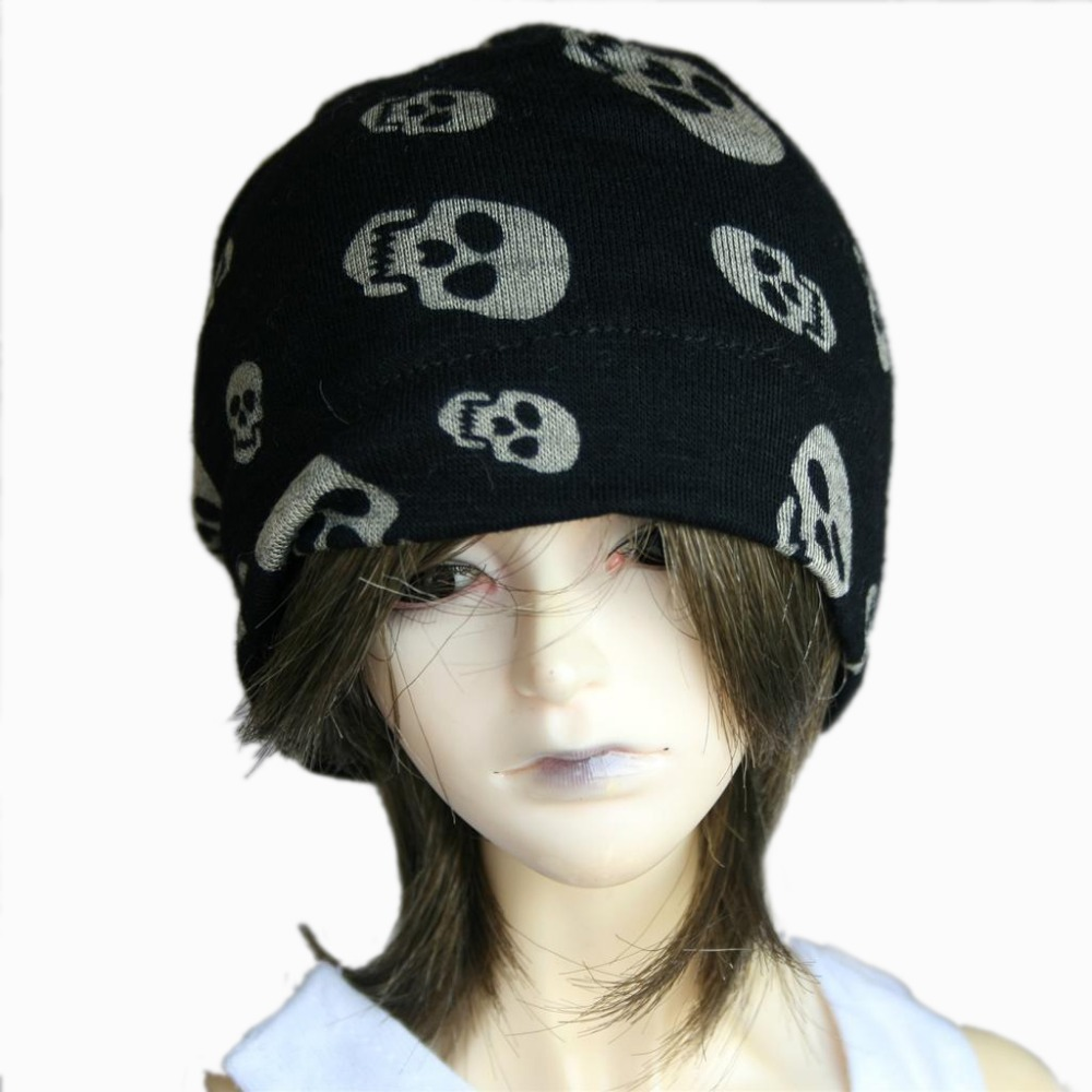 [wamami] Black Skull Cap/Hat For 1/3 SD-SD17 DZ70 LUTS BJD Doll Dollfie uncle 1 3 1 4 1 6 doll accessories for bjd sd bjd eyelashes for doll 1 pair tx 03