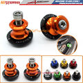 Free Shipping Motorcycle CNC 8mm Swingarm Sliders Spools Stand Screws For Suzuki GSXR 600 750 1000 1300 Sv650 TL GSR DL Orange