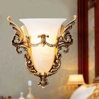 Retro Wall Lamp Rustic Style Bedside Light Classic Wall Lights for Bedroom Hotel Staircase Aisle Lights Wall Sconce Indoor Lamps