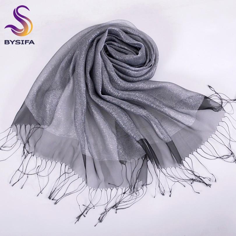 Nueva elegante bufanda de seda de organza mantón de moda 100% seda - Accesorios para la ropa - foto 5