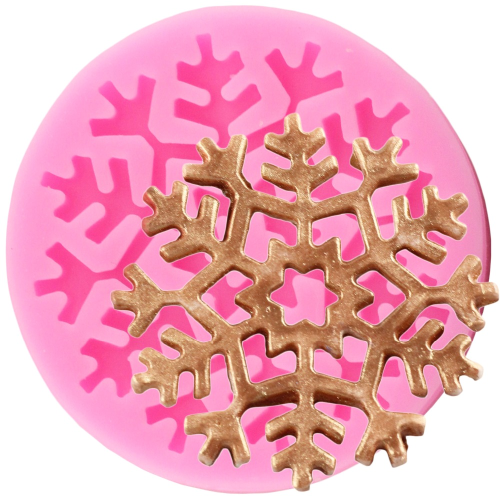3D Snowflake Silicone Mold Fondant Chocolate Lace Mould Polymer Clay Baking Moulds Birthday Party Cake Decorating Tools