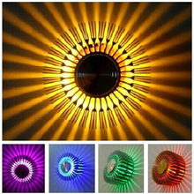 Sun Flower Creative LED Wall Light 1W 3W Modern Aluminum Led Wall Lamp Background Art Sconce Indoor Decor Home Lighting SINFULL