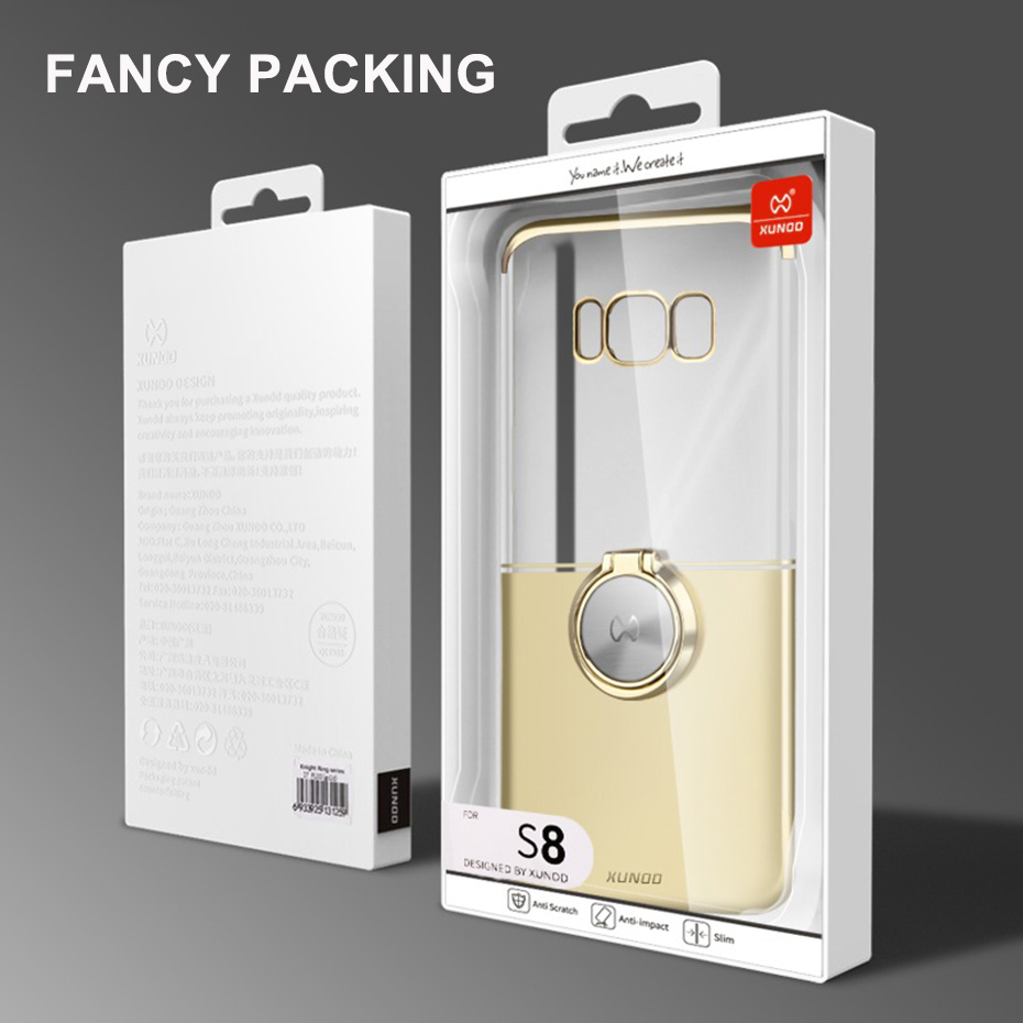 Luxury Ultra thin Transparent Cover For Samsung Galaxy Note 8 9 S8 S9 Plus Phone Ring buckle Protective Case Magnetic car holder in Fitted Cases from Cellphones Telecommunications