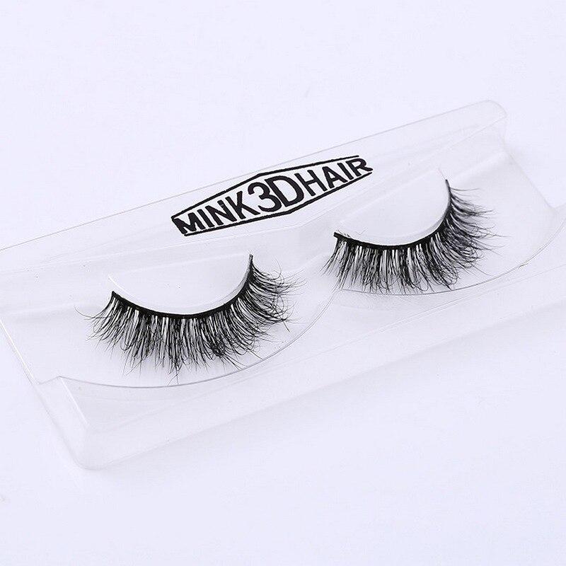 Image 4 - 3D Mink Eyelash Real Mink Handmade Crossing Lashes Individual Strip Thick Lash Fake Eyelashes A02-in False Eyelashes from Beauty & Health