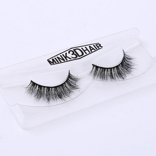3D Mink Eyelash Real Mink Handmade Crossing Lashes Individual Strip Thick Lash Fake Eyelashes A02 3
