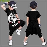 Summer Boy Clothes Sets Kids Hip Hop Clothing Toddler Suits Shorts Children Clothing Set Kids Tracksuit